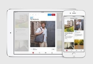 Pinterest Buyable Pin on an iPad and an iPhone