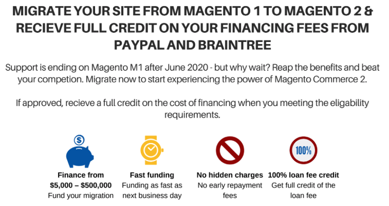 Using Loanbuilder to Finance Your Magento Migration 1